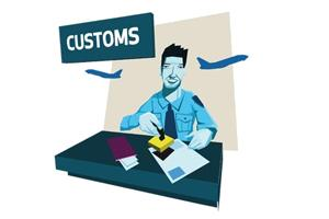 through customs
